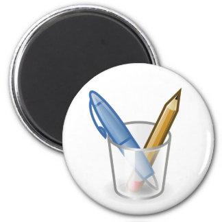 Taza del lápiz de la pluma del escritor imán redondo 5 cm