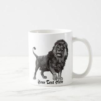 Taza del león del vintage