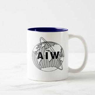Taza del logotipo de AIW - interior de la marina d