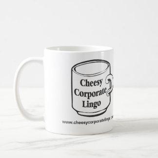 taza del logotipo de CheesyCorporateLingo.com