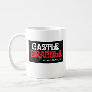 Taza del logotipo de Drácula del castillo
