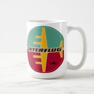Taza del logotipo de Interflug Ailines de los años