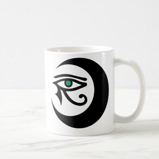 Taza del logotipo de LunaSees (negro con el iris