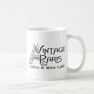 Taza del logotipo de París del vintage Taza Básica Blanca