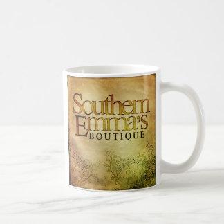 Taza del logotipo del boutique de Emma meridional