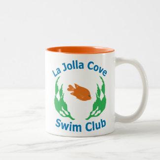 Taza del logotipo del club de Swlm de la ensenada
