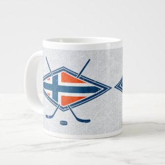Taza del logotipo del hockey sobre hielo de taza grande