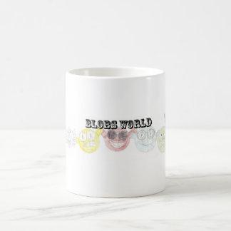 Taza del logotipo del mundo de las gotas