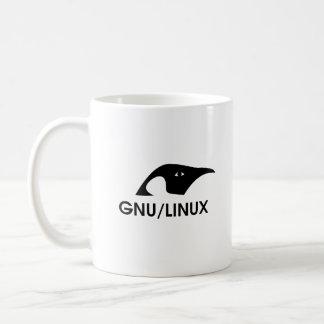 Taza del logotipo del pingüino de GNU/Linux con la
