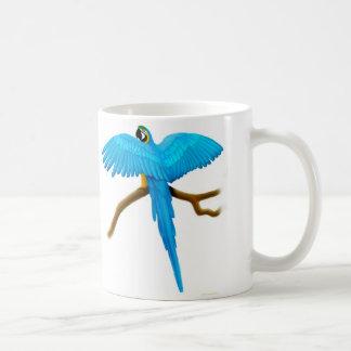 Taza del Macaw del azul y del oro