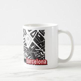 Taza del mapa de Barcelona
