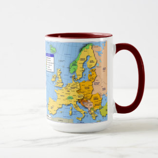 Taza del mapa de Europa