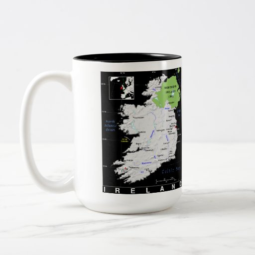 Taza del mapa de Irlanda