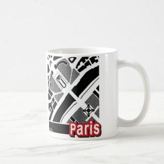 Taza del mapa de París