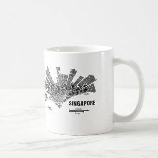 Taza del mapa de Singapur