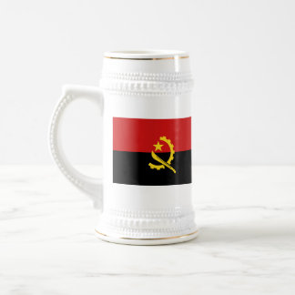 Taza del mapa del ~ de la bandera de Angola