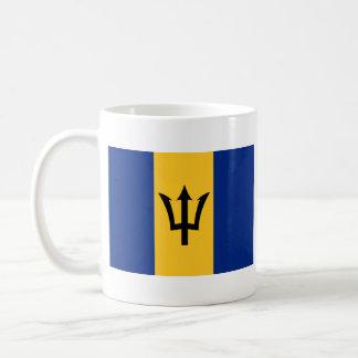 Taza del mapa del ~ de la bandera de Barbados