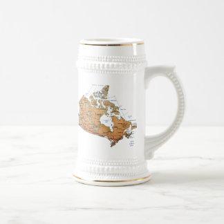Taza del mapa del ~ de la bandera de Canadá
