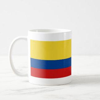 Taza del mapa del ~ de la bandera de Colombia
