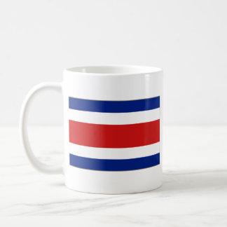 Taza del mapa del de la bandera de Costa Rica