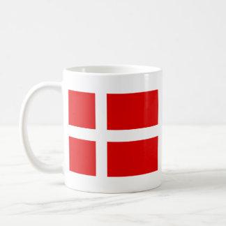 Taza del mapa del ~ de la bandera de Dinamarca