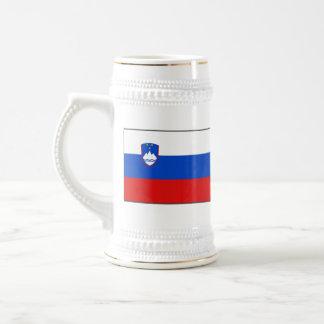 Taza del mapa del ~ de la bandera de Eslovenia