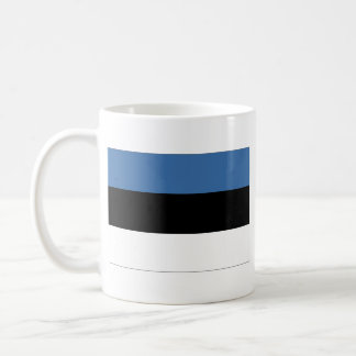 Taza del mapa del ~ de la bandera de Estonia