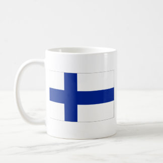 Taza del mapa del de la bandera de Finlandia