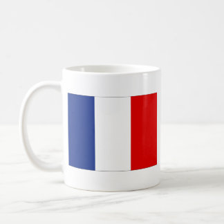 Taza del mapa del ~ de la bandera de Francia