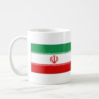 Taza del mapa del ~ de la bandera de Irán