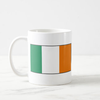 Taza del mapa del de la bandera de Irlanda