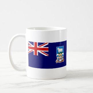 Taza del mapa del de la bandera de Islas Malvina