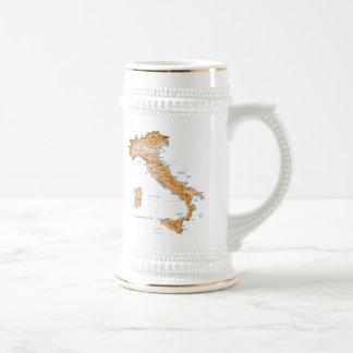 Taza del mapa del ~ de la bandera de Italia