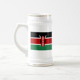Taza del mapa del ~ de la bandera de Kenia