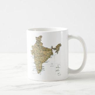 Taza del mapa del ~ de la bandera de la India