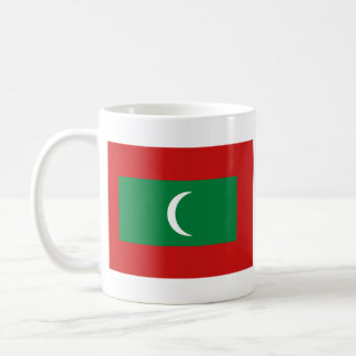 Taza del mapa del ~ de la bandera de Maldivas