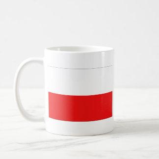 Taza del mapa del ~ de la bandera de Polonia