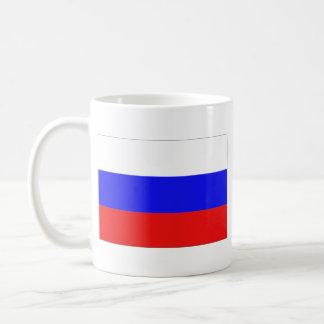 Taza del mapa del ~ de la bandera de Rusia