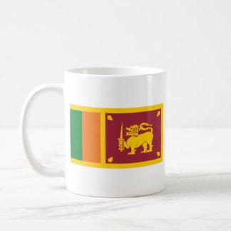 Taza del mapa del ~ de la bandera de Sri Lanka