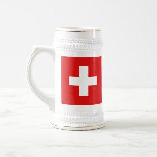 Taza del mapa del ~ de la bandera de Suiza