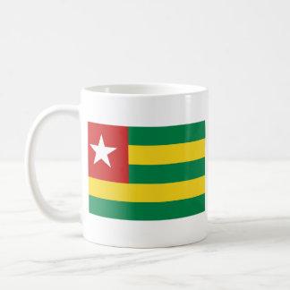 Taza del mapa del ~ de la bandera de Togo