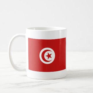 Taza del mapa del ~ de la bandera de Túnez