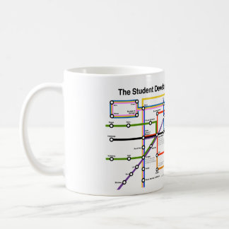 Taza del mapa del sistema de transporte del