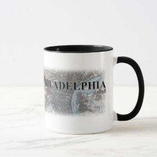 Taza del mapa del vintage de Philadelphia