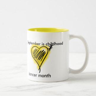 Taza del mes del cáncer de la niñez