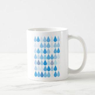 Taza del modelo del descenso del agua