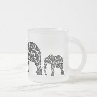 Taza del modelo del elefante del damasco
