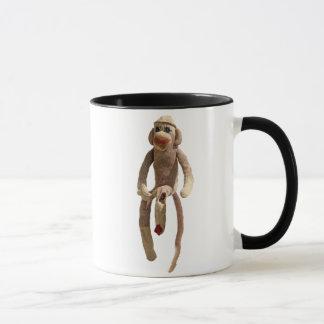 Taza del mono del calcetín