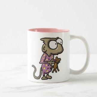 Taza del mono del pijama