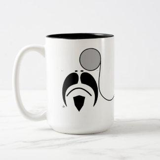 Taza del monóculo del estilo del bigote